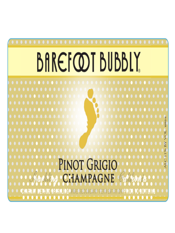 Barefoot Bubbly Pinot Grigio 750ML image number 4