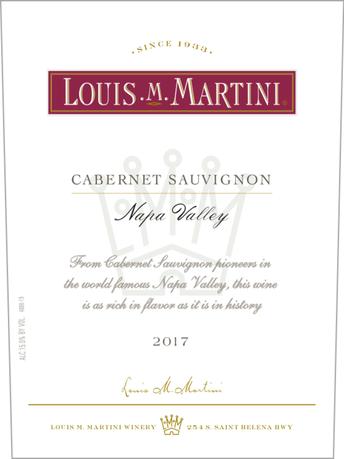 Louis M. Martini Cabernet Sauvignon Napa Valley V17 750ML image number 3