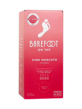 Barefoot Pink Moscato  3.0L image number 1