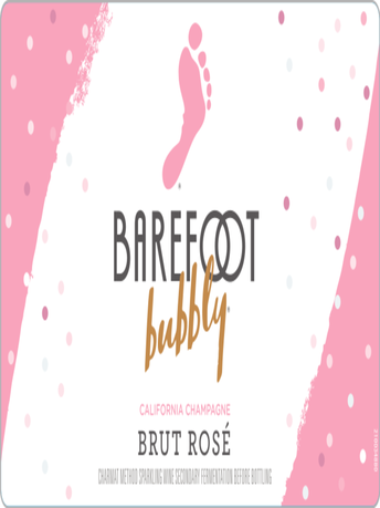 Barefoot Bubbly Brut Rose  750ML image number 3