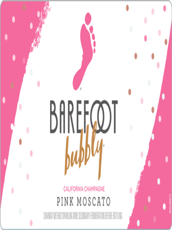 Barefoot Bubbly Pink Moscato  750ML image number 3