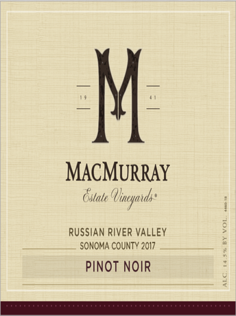 MacMurray Estate Vineyards Pinot Noir V17 750ML image number 2