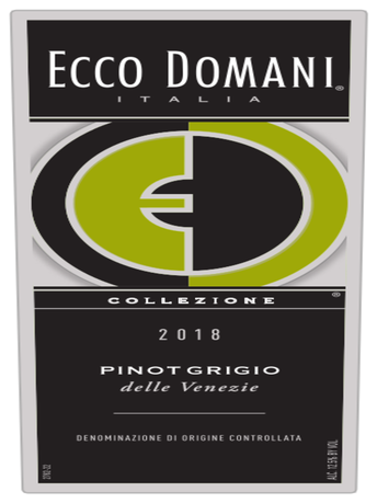 Ecco Domani Collezioni Pinot Grigio V18 750ML image number 2