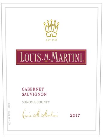 Louis M. Martini Cabernet Sauvignon Sonoma County V17 750ML image number 2