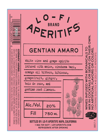 Lo-Fi Aperitifs Gentian Amaro 750ML image number 2