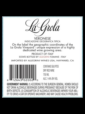 Allegrini La Grola Veneto IGT V15 750ML image number 4