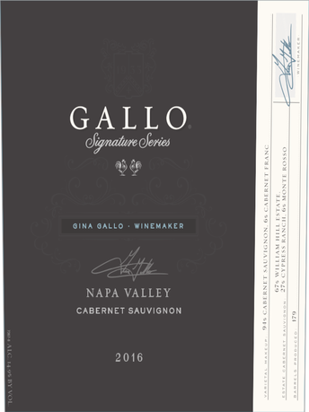 Gallo Signature Series Cabernet Sauvignon V16 750ML image number 2