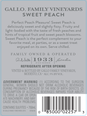 Gallo Family Vineyards Sweet Peach  750ML image number 3